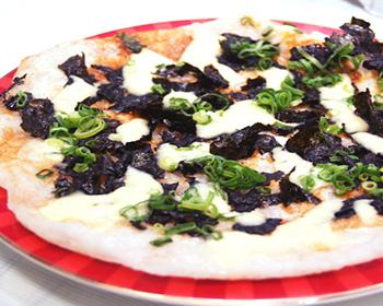 海苔とチーズのもちピザ