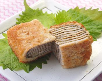 豚肉のミルフィーユ風かつれつ