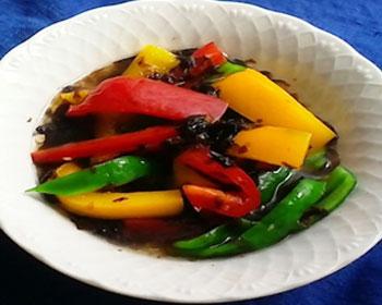 彩り野菜と三杯酢のりの和風マリネ