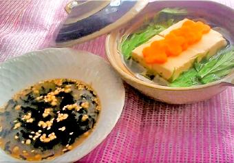 簡単・おいしい・あごだしぽん酢の湯豆腐