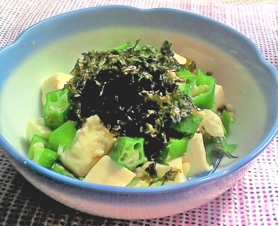 簡単・おいしい・オクラと豆腐のあえ物