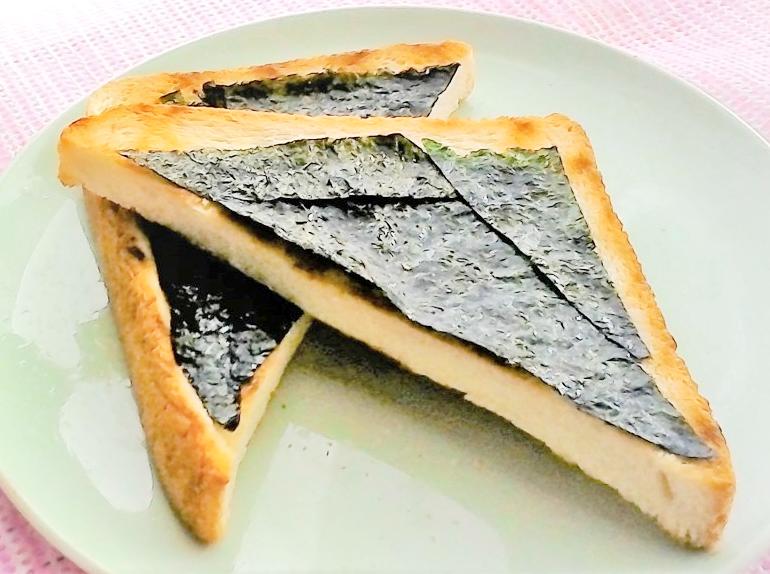 かつおだし香る塩のりトースト