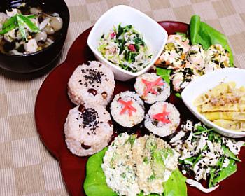 お彼岸の春野菜たっぷり精進料理