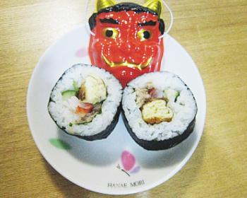 恵方サラダ巻き