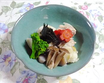 京野菜と海苔の炊き合わせ