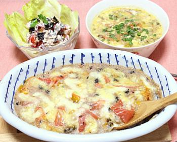トマトと長芋のグラタン&ツナトマト&トマトスープ