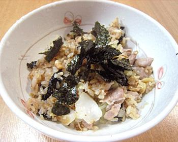 豚肉ゴロゴロ海苔炒飯