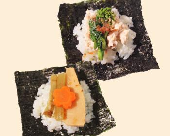 春野菜の彩り手巻きご飯